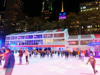 Gå på skøyter i New York - Bryant Park