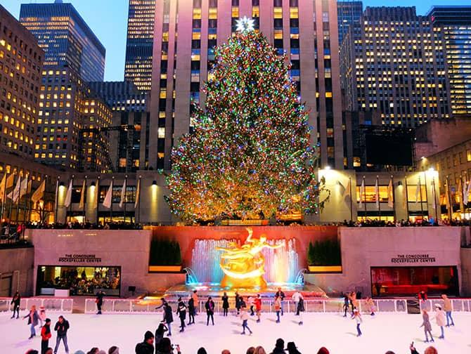 Gå på skøyter i New York - Gå på skøyter ved Rockefeller Center