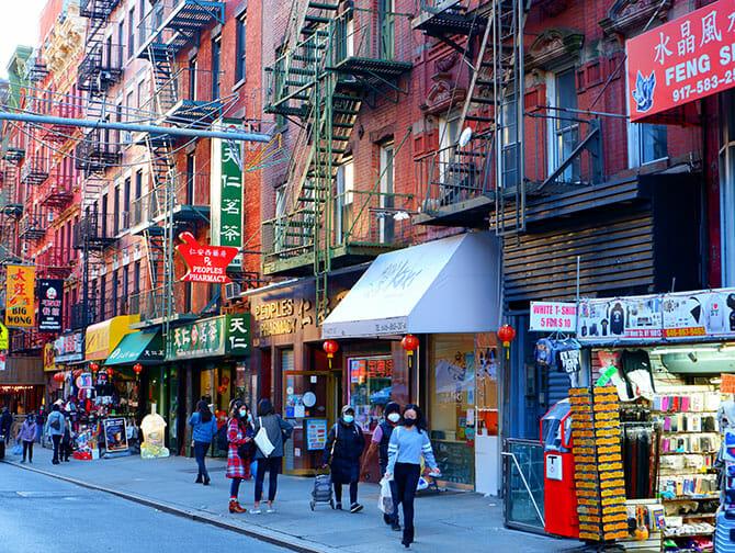 Chinatown i New York - Butikker
