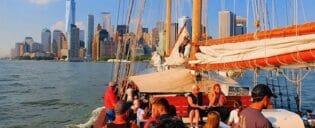 Frihetsgudinnen seiltur i New York