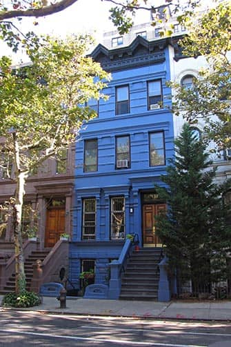 Upper West Side i New York - Blått hus