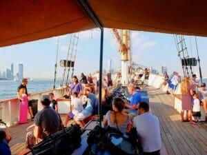 Klassisk Schooner seilbåt i New York