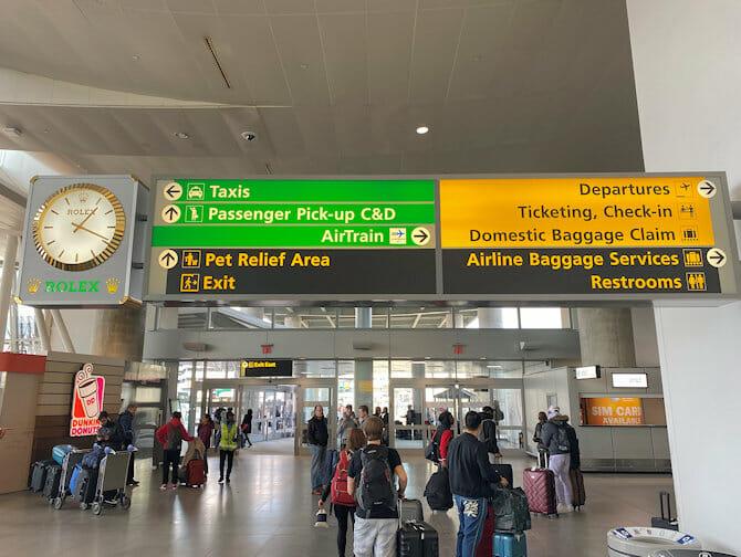 JFK flyplassen til Manhattan