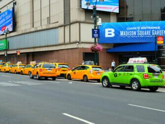 Taxi i New York - Grønne og gule taxier