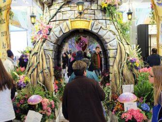 Macys i New York - Blomstershow dekorasjoner