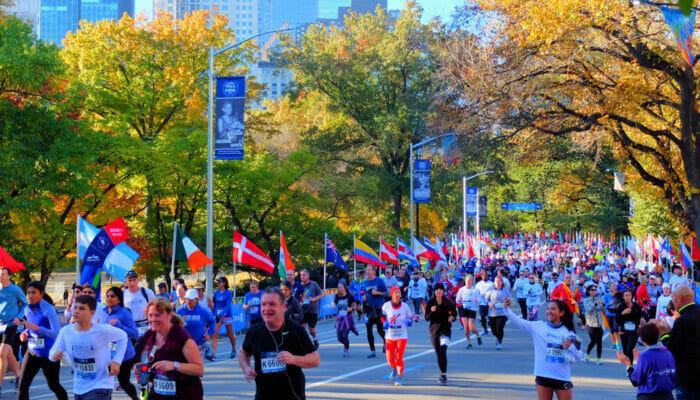 Marathon i New York - Løpere i Central Park