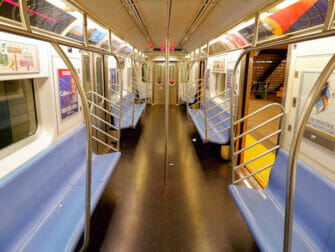 Subway i NYC - Innvendig