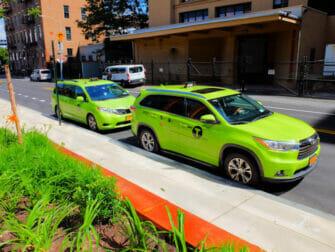 Taxi i New York - Grønn taxi