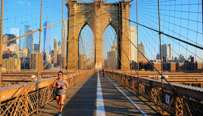 Brooklyn Bridge i New York - Løpetur