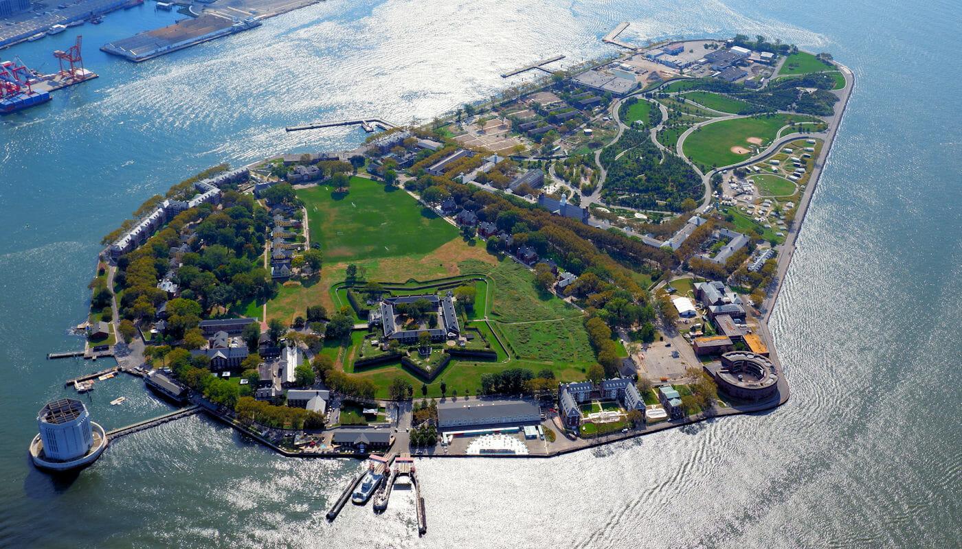 Governors Island i New York - Sett ovenfra