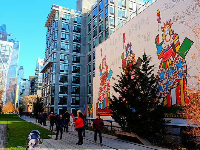High Line Park i New York - Maleri