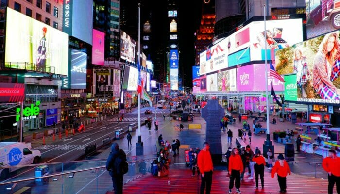 Theater District i New York - Times Square