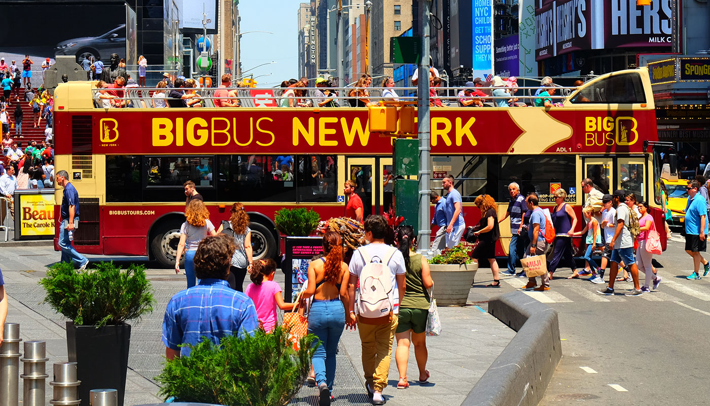Big Bus i New York - Krysser Times Square