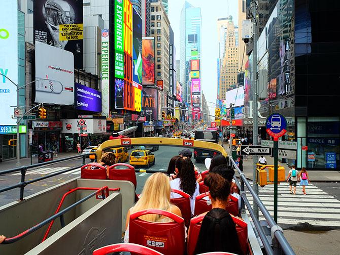 Big Bus in New York - utsikt