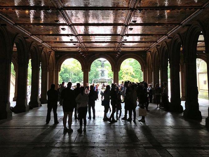 Central Park i New York - Bethesda Terrace
