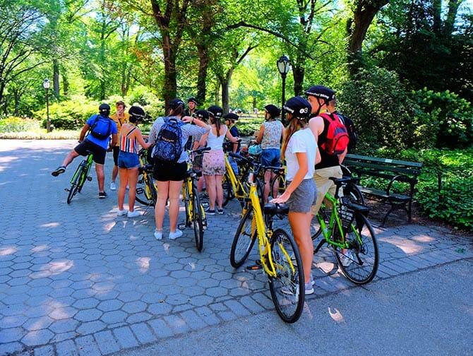 Central Park i New York - Sykkeltur