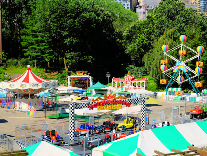 Central Park i New York - Victorian Gardens