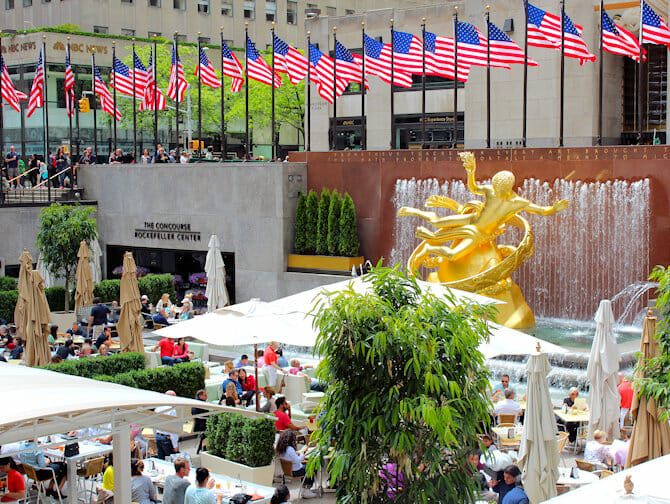 Rockefeller Center i New York - Terrasse