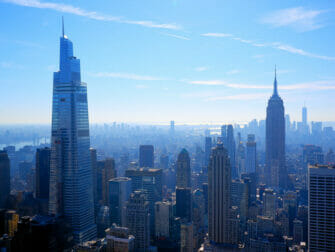 Top of the Rock Tickets utsikt mot Empire State Building