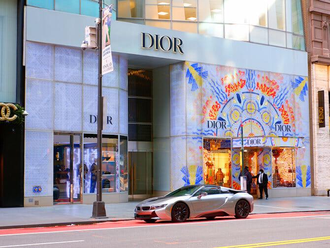 Shopping på Upper East Side i New York - Vindusutstilling