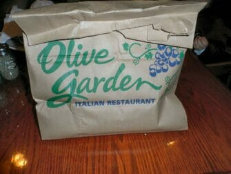 Doggy Bag i NYC - Olive Garden