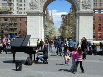 Parker i New York - Live musikk i Washington Square Park