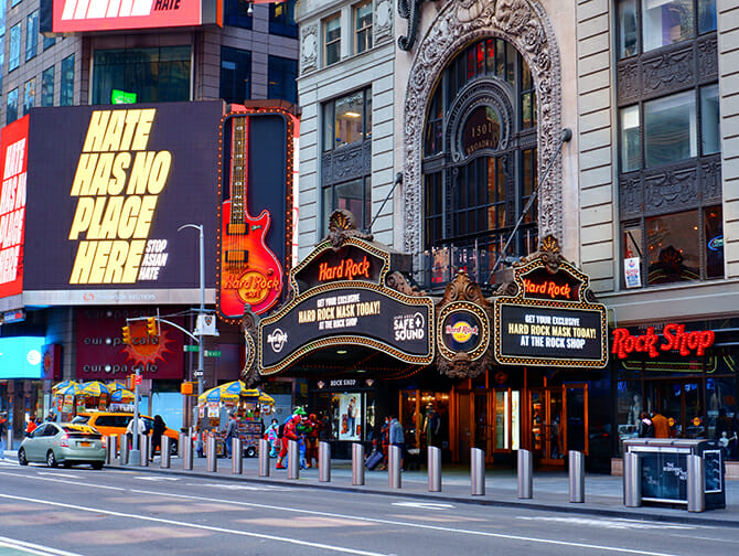 Tema-restauranter i New York - Hard Rock Cafe