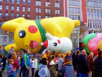 Macy's Thanksgiving Parade - Oppblåsing av Ballonger