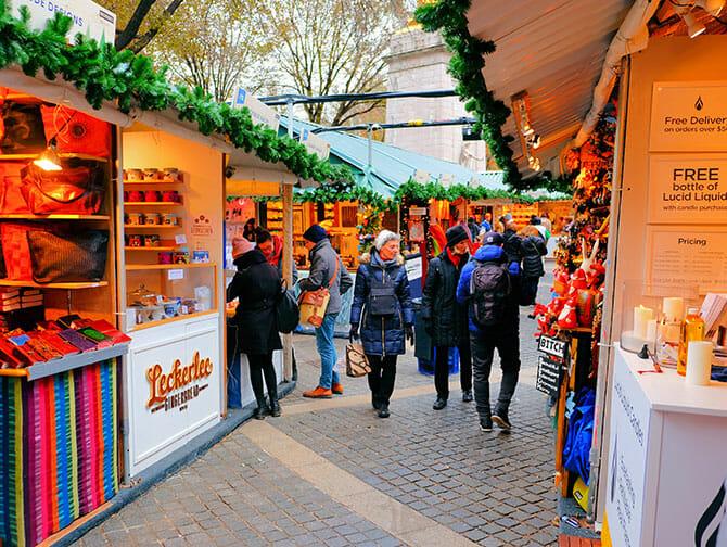 Markeder i New York - Julemarked i Bryant Park