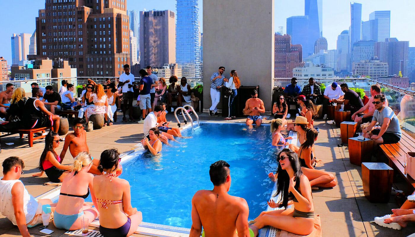 Rooftop barer i New York