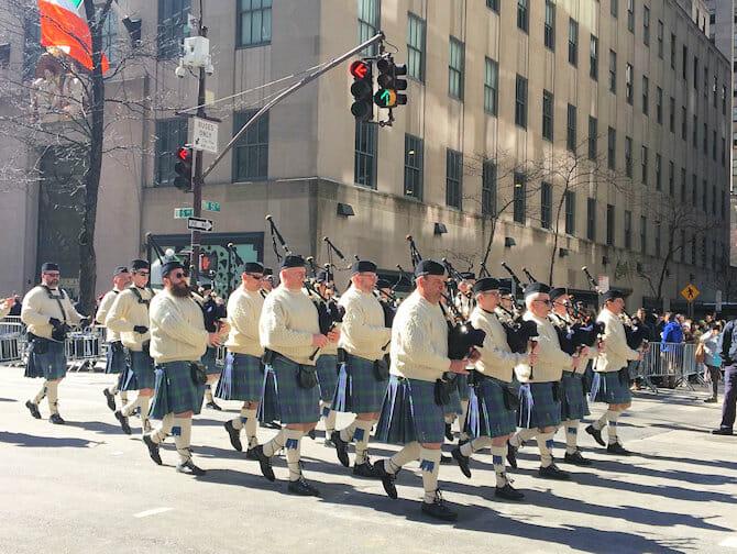 St Patricks Day i New York - Grønne jakker