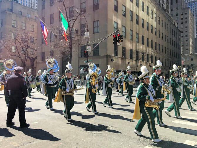 St Patricks Day i New York - Parade