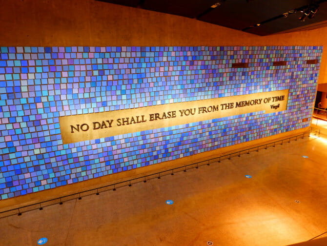 9-11 Museum i New York - Wall of Faces