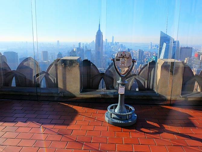 Første nyttårsdag i New York - Soloppgang sett fra Top of the Rock