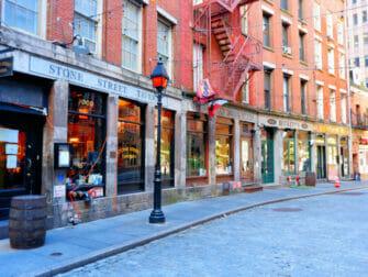 Lower Manhattan og Financial District i New York - Stone Street