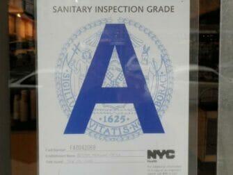 Hygiene på restauranter i New York - Karakter A
