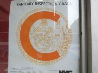 Hygiene på restauranter i New York - Karakter C