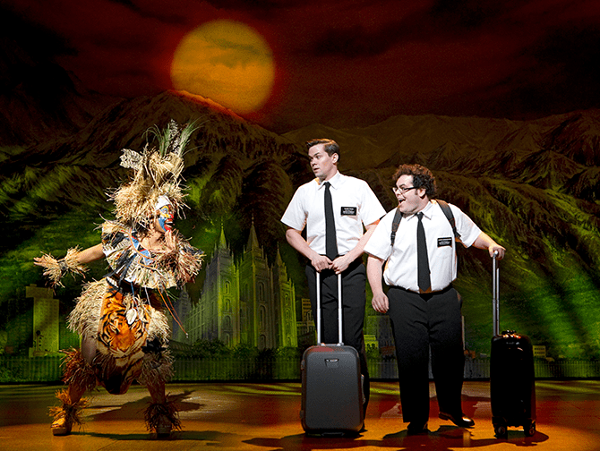 The Book of Mormon Broadway Tickets - Arnold og Kevin