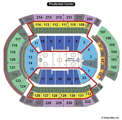 New Jersey Devils Beste sitteplasser