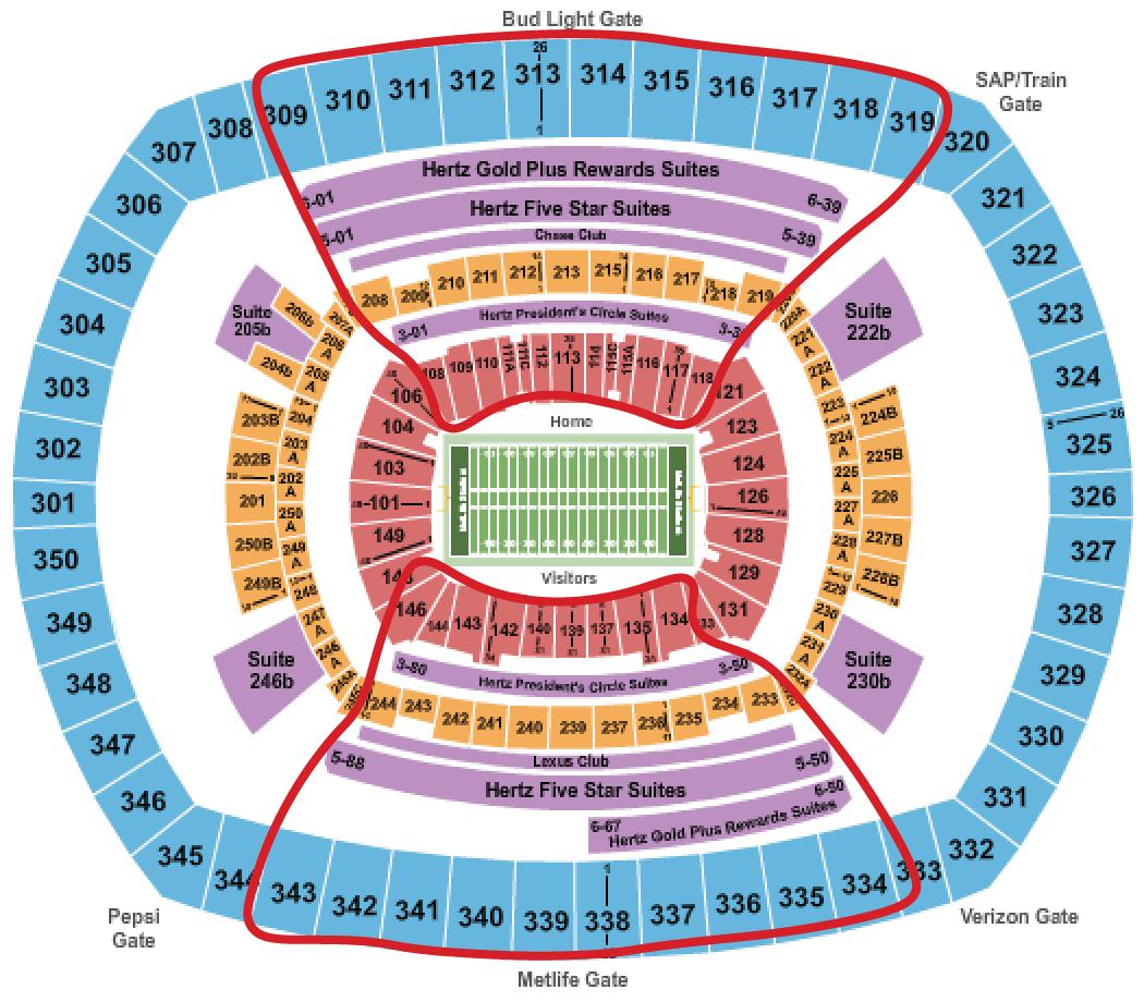 New York Giants Tickets - Metlife salkart
