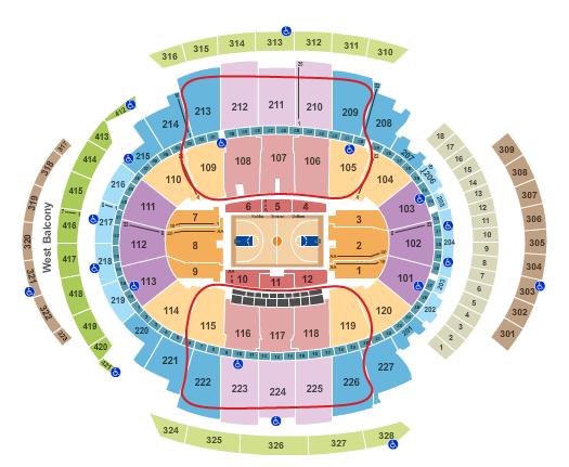 New York Knicks Tickets - Madison Square Garden salkart