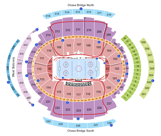 New York Rangers Tickets - Madison Square Garden salkart