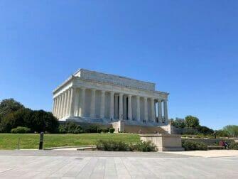 New York til Washington D.C busstur - Lincoln Memorial