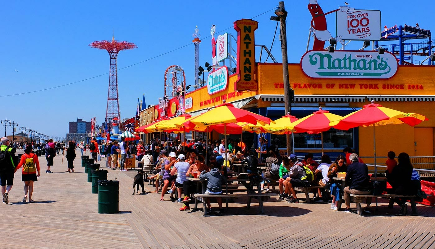 Pizza Tour in Brooklyn and Coney Island Coney Island Boardwalk