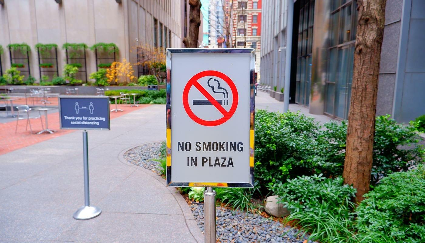Røyking i New York - Ingen røyking i parkene