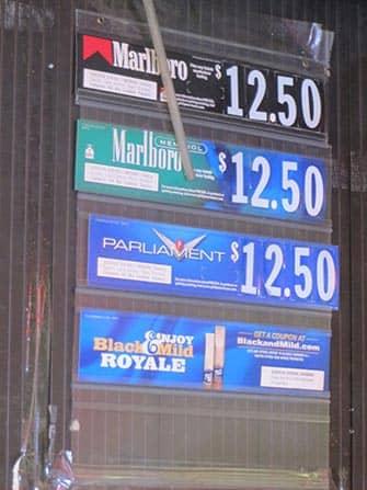 Røyking i New York - Priser
