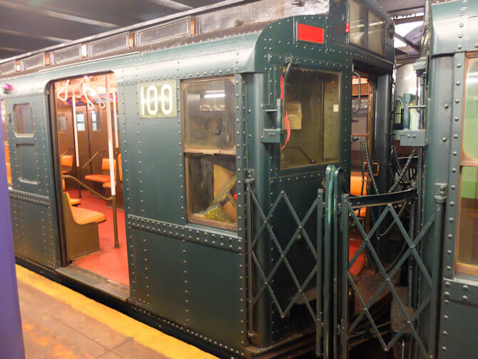 Gammeldagse tunnelbanevogner i New York - Special Train