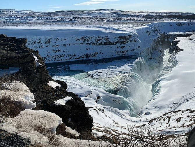 Stop-over på Island på vei til New York - Foss