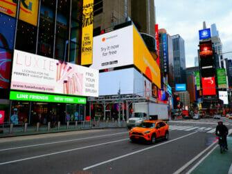 Guidet tur til Glee i New York - Times Square