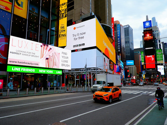Guidet tur til Glee i New York - Times Square